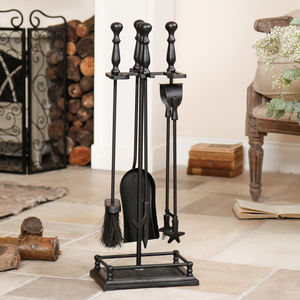 Gallery Cast Iron Fireplace Companion Set - bedroom