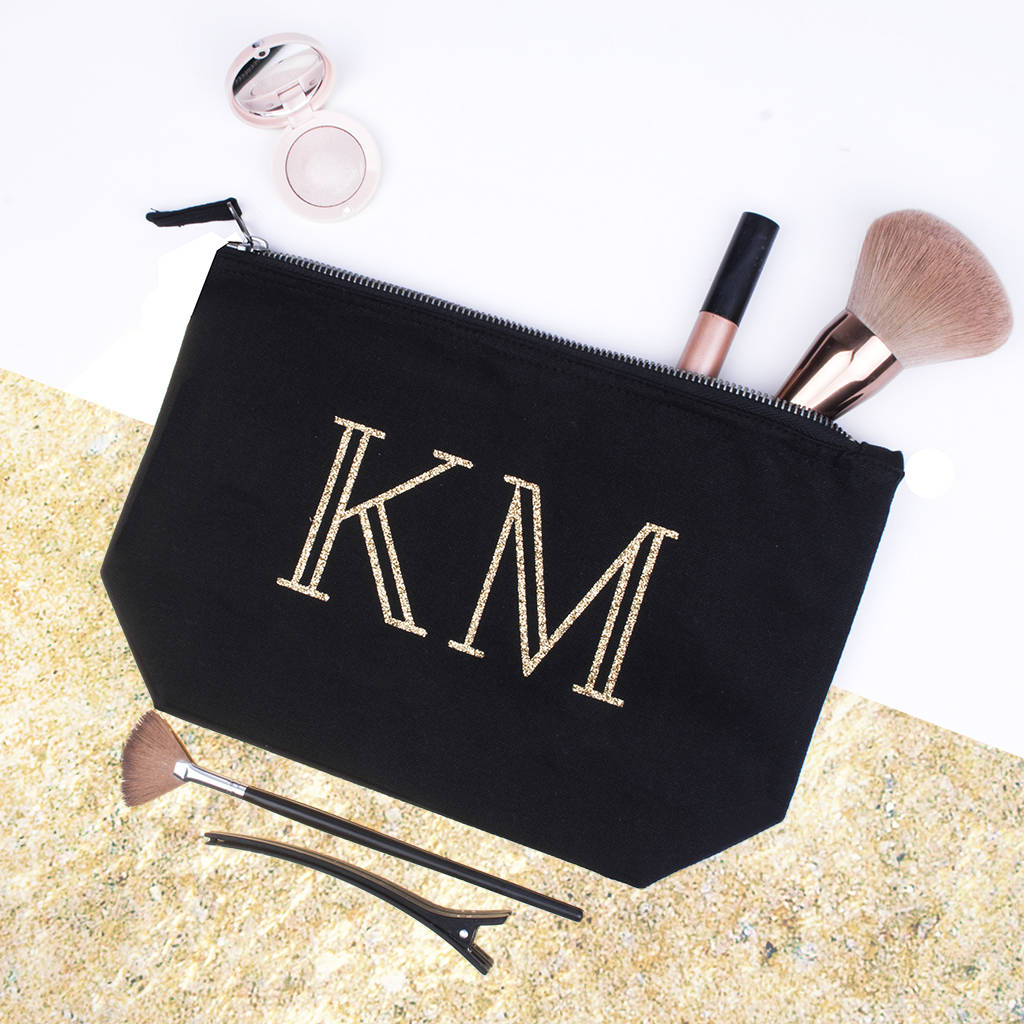 Personalised Initials Makeup Bag By