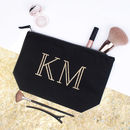 Personalised Initials Makeup Bag
