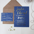 Star Themed Wedding Invitations