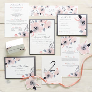 'Sweet Posey' Floral Wedding Stationery Set - wedding stationery