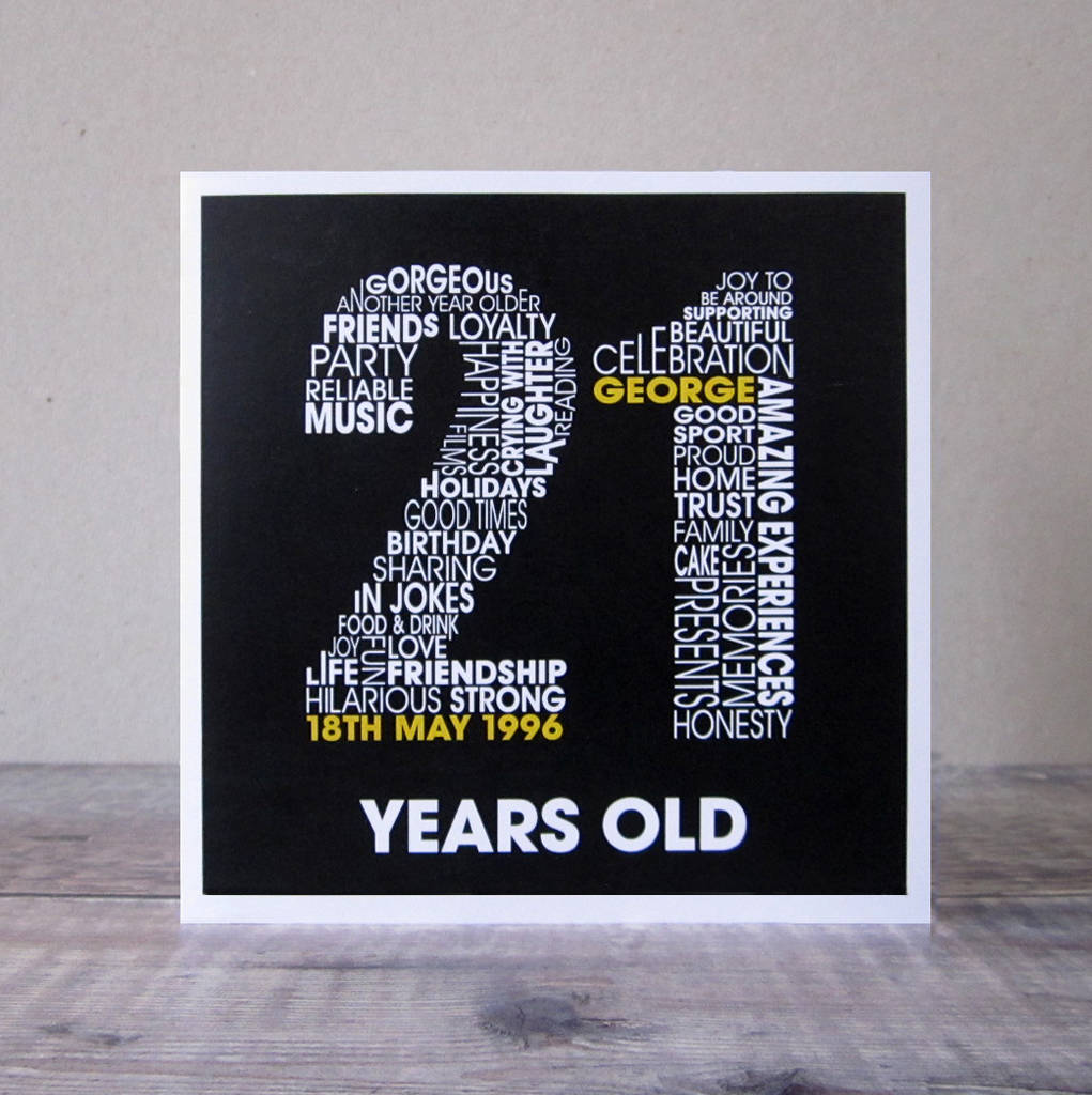 personalised 21st birthday card by mrs l cards – 18th Birthday Cards for Boys