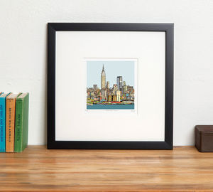 New York Skyline Print - posters & prints