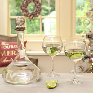 Personalised Glitter Ball Gin Decanter