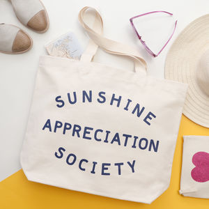 'Sunshine Appreciation Society' Canvas Bag