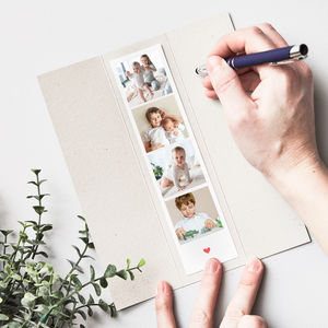 Personalised Photo Booth Strip Card - best valentine's gifts for her