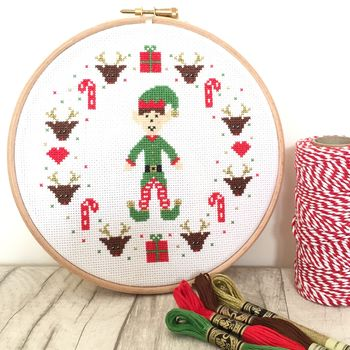 Christmas Elf Cross Stitch Kit