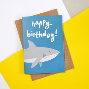 Children's Shark Birthday Card - what's new