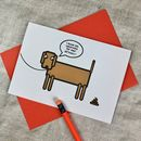 Naughty Dog Birthday Card