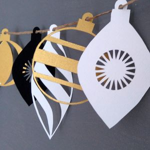 Christmas Bauble Paper Garland - garlands & bunting