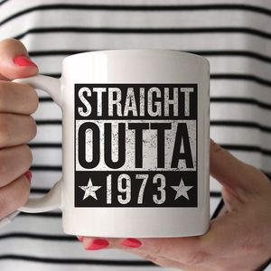 Personalised 'Straight Outta Compton' Birth Year Mug - kitchen