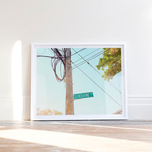 'Sunshine' American Street Sign Photographic Print