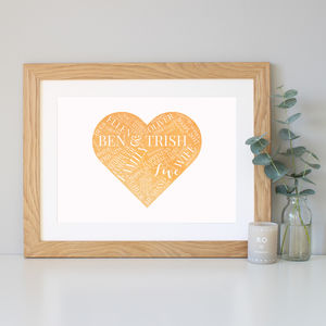 Personalised Wedding Day Gift - new in prints & art