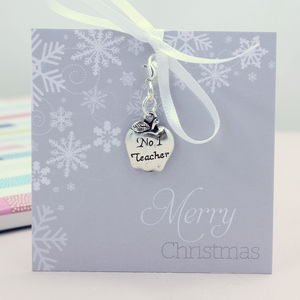 Number One Teacher Keepsake Charm - charm jewellery