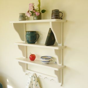 Cottage Style Painted Wall Shelf - shelves