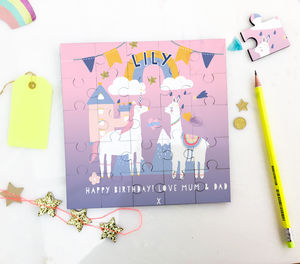 Personalised Unicorn And Llama Puzzle Gift - gifts for children