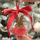 Personalised Reindeer First Christmas Bauble