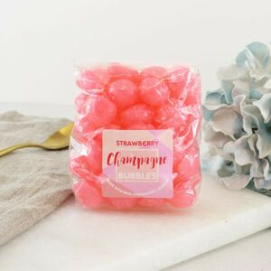 Boozy Champagne Strawberry Sweets