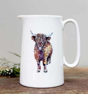 Highland Cow One Pint Fine Bone China Jug - dining room