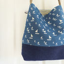 Sailboats Day Bag - French Blue