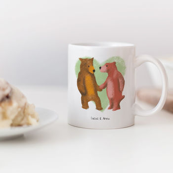 Personalised Bear Couple Mug