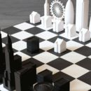 London Vs New York Skyline Chess Set