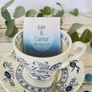 Personalised Favours Blue Ink Watercolour Effect Design