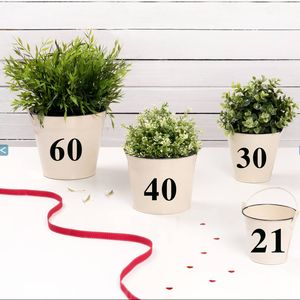 Big Birthday Number Buckets - storage & organising