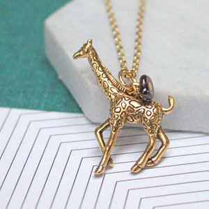Giraffe Charm Necklace - necklaces & pendants