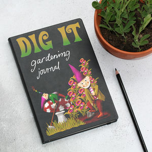 Groovy Gnome Garden Notebook - notebooks & journals