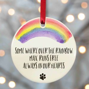 Personalised Pet Memorial Decoration - tree decorations