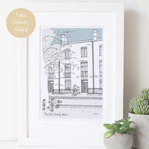 Personalised Architectural Style House Illustration