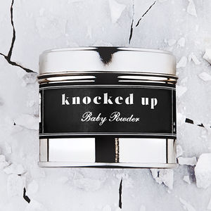 'Knocked Up' Baby Powder Pregnancy Scented Candle - candles & home fragrance