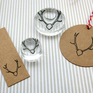 Native Stags Head Crystal Clear Stamp - shop by category
