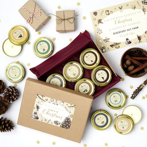 Twelve Scents Of Christmas Scented Candle Gift For Her - dining room
