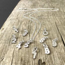Mini Silver Number Necklace