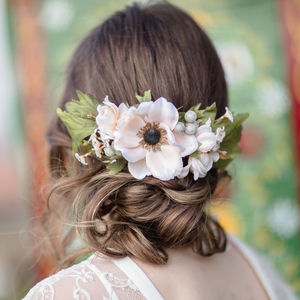 Annabelle Flower Hair Comb - bridal hairpieces