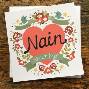 Welsh World's Best Grandmother Card Nain