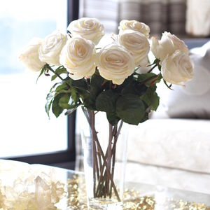 Artificial White Ecuadorian Rose Stem - home accessories