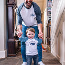 Personalised Daddy And Me Polar Bear T Shirt Set