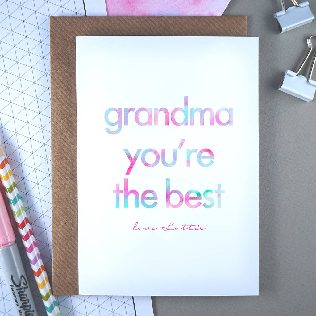 Granny You Re The Best Personalised Birthday Card By Rich Little