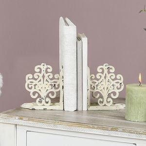 Ornate Scrolled Cast Iron Bookends - bookends