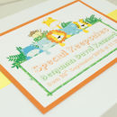 Personalised New Baby Jungle Keepsake Box