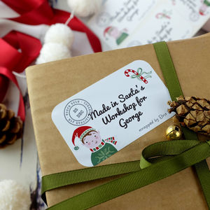 24 Personalised Gift Labels From The North Pole - christmas stickers
