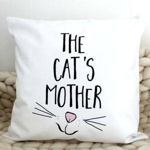 'Cat's Mother' Cushion - cushions