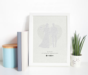 Wedding Song Typographic Lyric Spotify Print