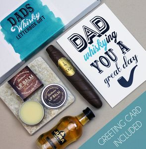 Letterbox Whisky Gift With Greeting Card For Dad