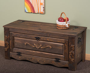 Hallway Storage Bench Shoe Cabinet In Dark 100cm Wide - chests & blanket boxes