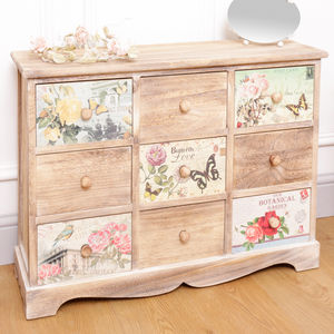 Blossoming Garden Nine Drawer Chest