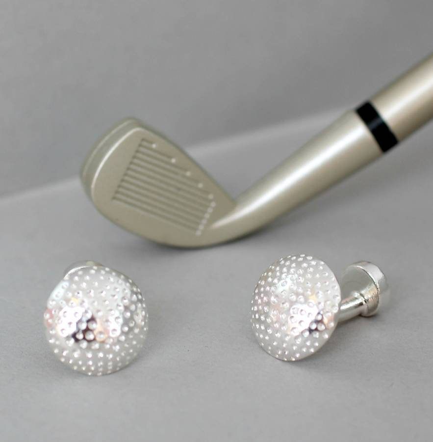Personalised golf ball cufflinks by posh totty designs for Golf buflings
